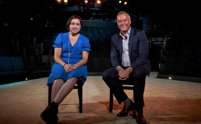 Kodie Bedford and Stan Grant (image - ABC)