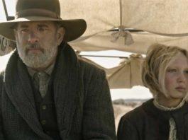 (from left) Captain Jefferson Kyle Kidd (Tom Hanks) and Johanna Leonberger (Helena Zengel) in News of the World (image - Netflix)