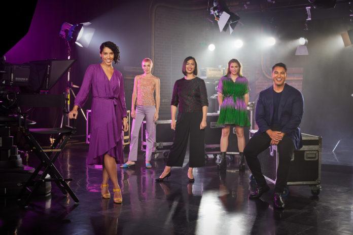 The Feed - Alice Matthews, Jenna Owen, Alex Lee, Vic Zerbst, Marc Fennell (image - SBS)