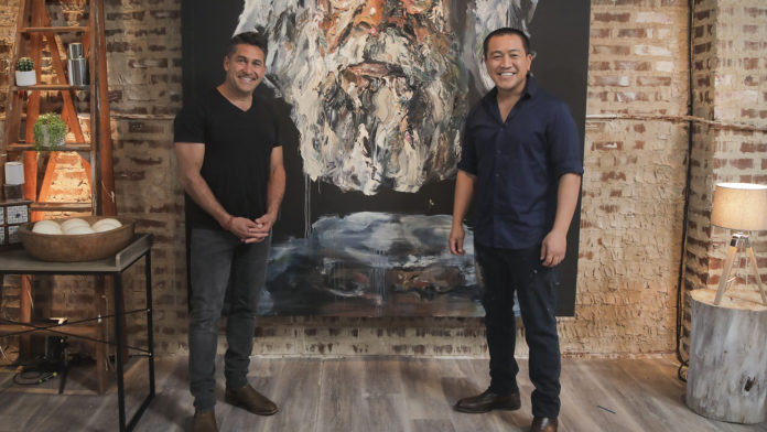 Jamie Durie with Anh Do (image - ABC)