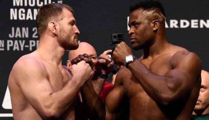 Stipe Miocic and Francis Ngannou (image - UFC)