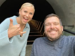 Grace Tame with Kurt Fearnley (image - ABC)