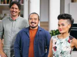 Colin Fassnidge, Adam Liaw and Yumi Stynes (image - SBS)