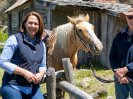 Guest presenter Lisa Millar with Irene Glover on her property Wihareja (image - ABC)