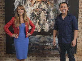 Jane Seymour and Anh Do (image - ABC)