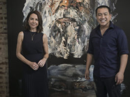 Kate Ritchie with Anh Do (image - ABC)