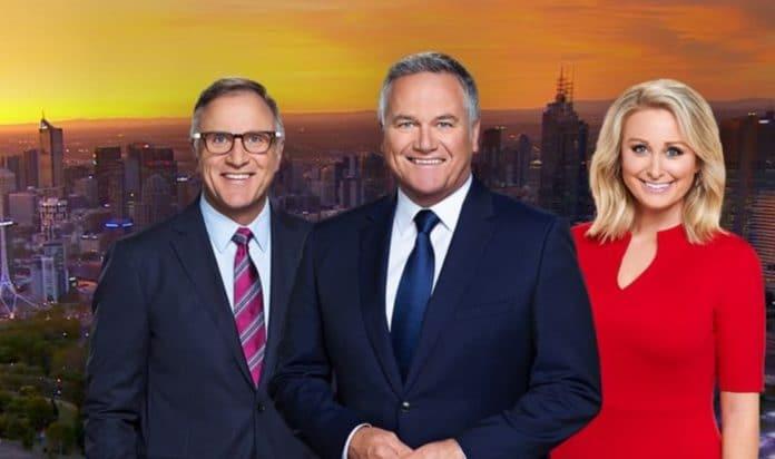 Tim Watson, Peter Mitchell and Jane Bunn present 7News Melbourne (image - Seven)
