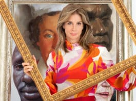 Rachel Griffiths in Finding The Archibald (image - ABC)