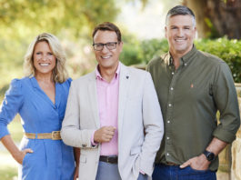 The new Lifestyle presenter lineup - Wendy Moore, Andrew Winter and Dennis Scott (image - Foxtel)