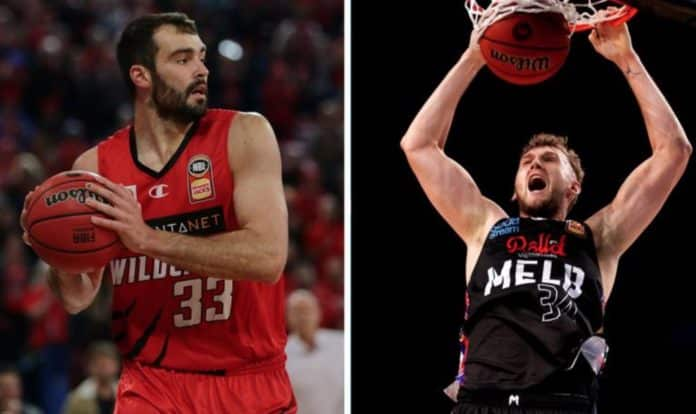 Perth Wildcats and Melbourne United (image - The West Australian)