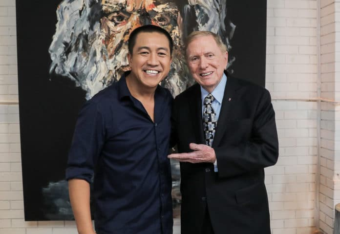 Hon. Michael Kirby with Anh Do (image - ABC)