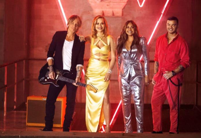 Keith Urban, Rita Ora, Jessica Mauboy and Guy Sebastian (image - Seven)